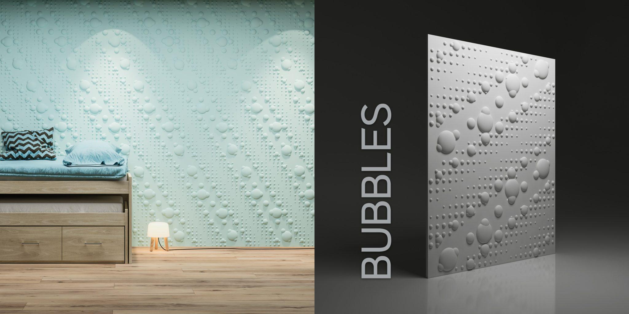 Wzór Bubbles - wizualizacja katalogowa + render