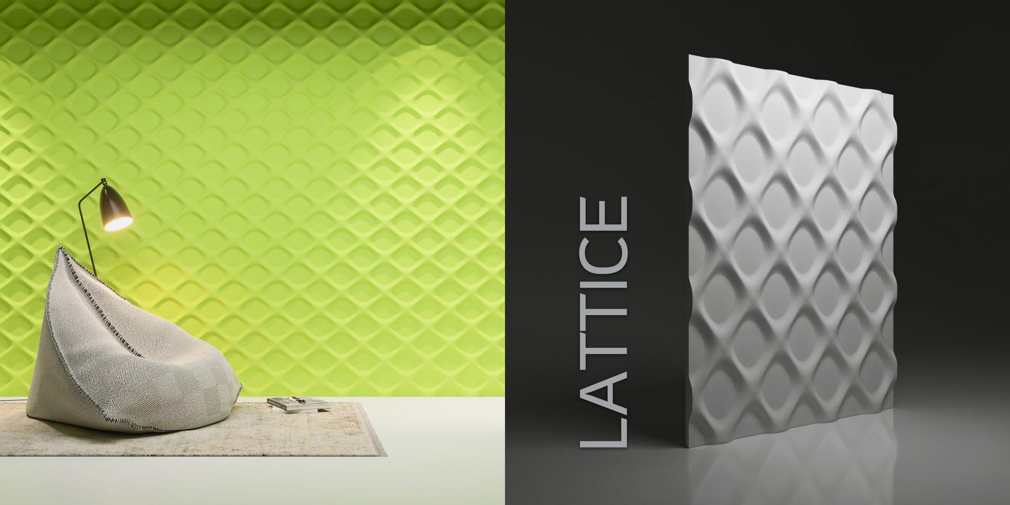 Wzór Lattice - wizualizacja katalogowa + render