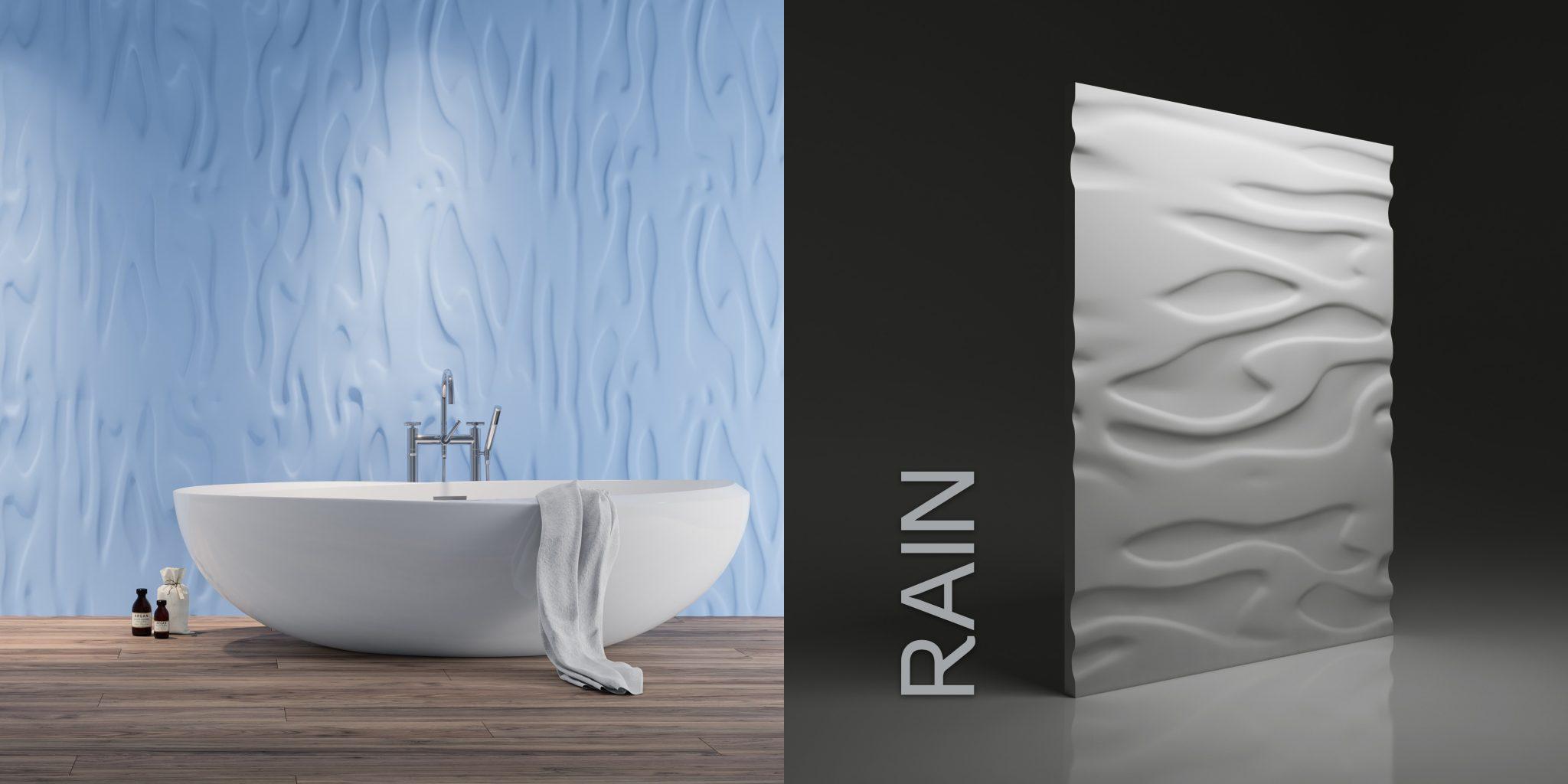 Wzór Rain - wizualizacja katalogowa + render