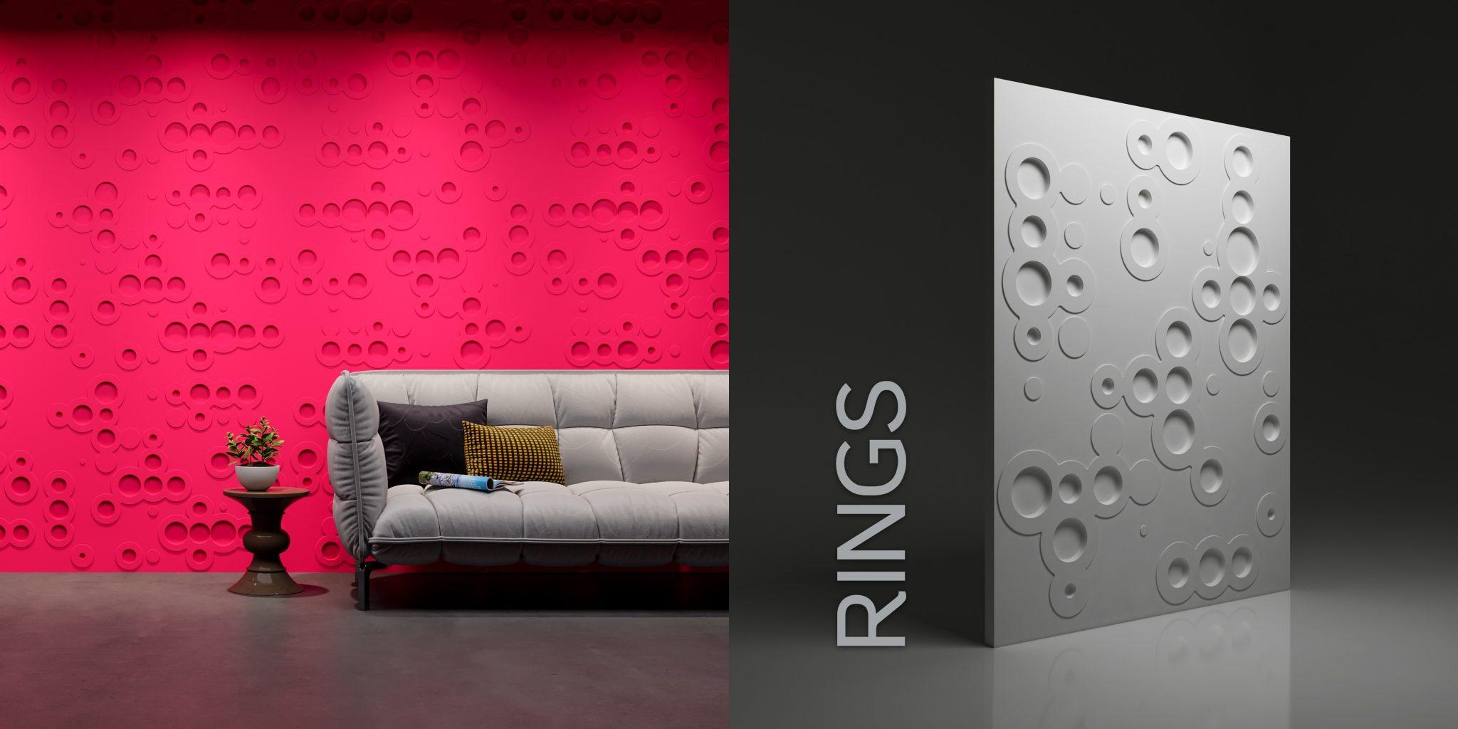Wzór Rings - wizualizacja katalogowa + render