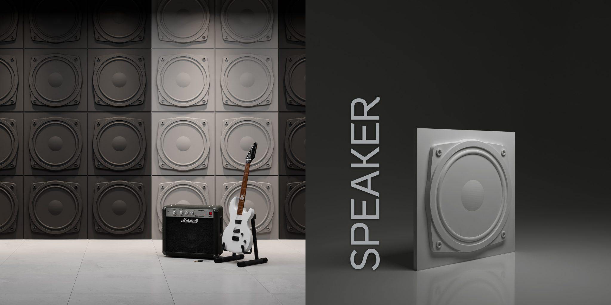 Wzór Speaker - wizualizacja katalogowa + render