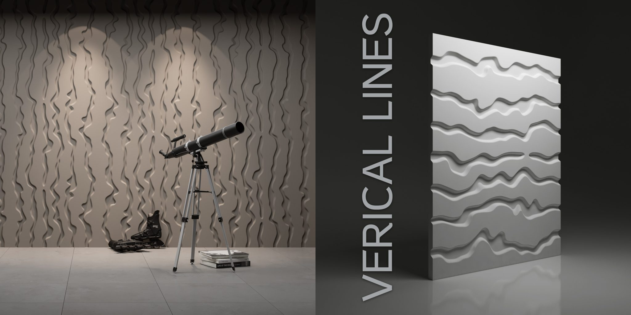 Wzór Vertical Lines - wizualizacja katalogowa + render