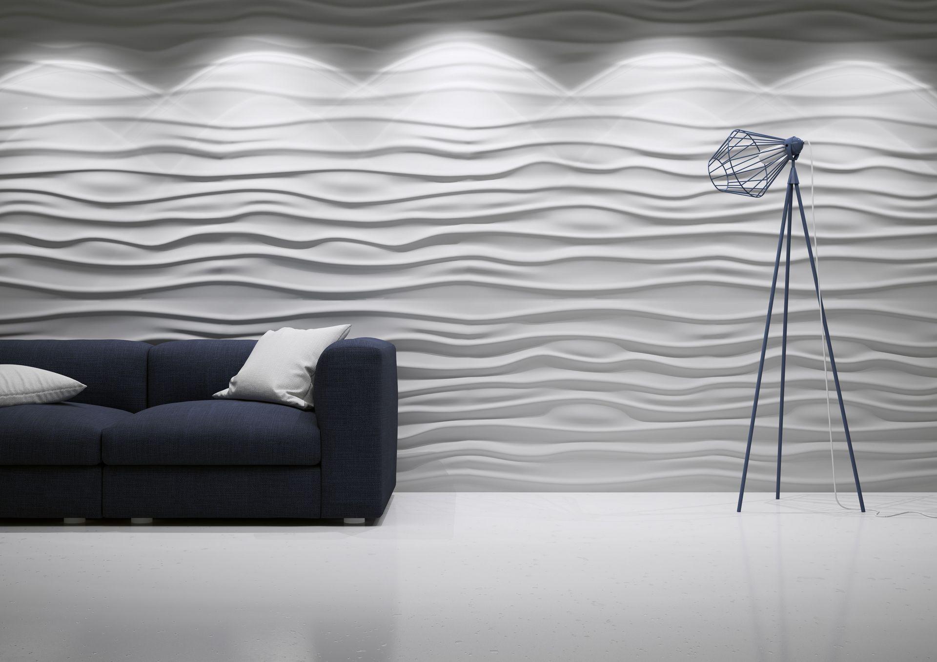 Na Fali Kreacji Panele Dekoracyjne Wave Choppy Curled