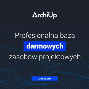 Pliki 3D - ArchiUp - logo platformy z plikami do programów projektowych